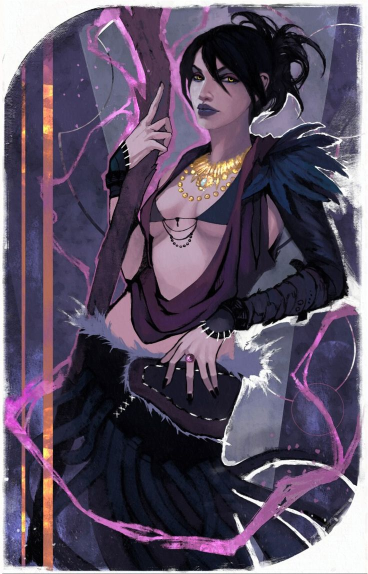 fantasy, game, illustration, fanart, morrigan, dragon age, character