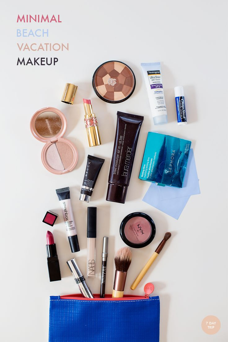 Packing List: Minimal Beach Vacation Makeup