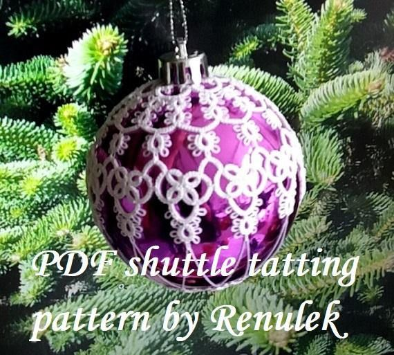Bubble 3D1PDF Original Shuttle Tatting Pattern. Instant