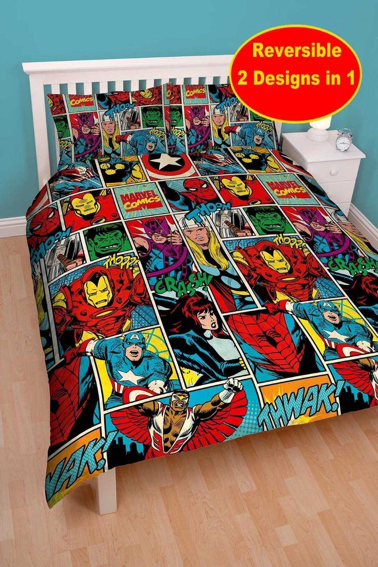 marvel comics strike double rotary duvet now in stock
