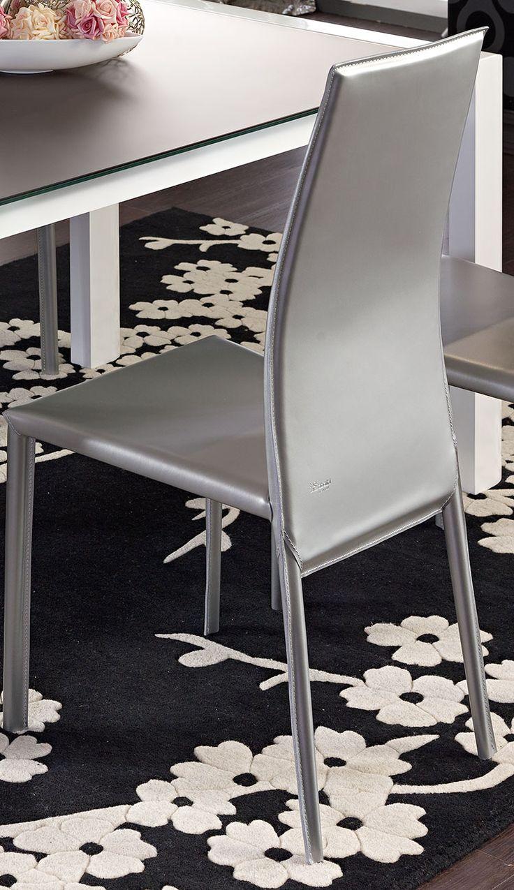Sedia in metallo rivestita in cuoio Art.5830 | Sedie e Tavoli