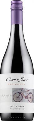Cono Sur Bicicleta Pinot Noir 2014. Chile. 8,98 €. Marjaisa ja raikas: Keskitäyteläinen, keskitanniininen, kirsikkainen, herukkainen, mausteinen, hennon toffeinen