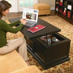 Adjustable Height Lift Top Coffee Tables aka work comfortable from home.