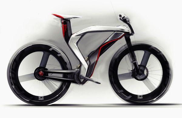 Bicicleta conceitual desenvolvida pela empresa Opel é sustentável e não polui o ambiente (Foto: Reprodução)
