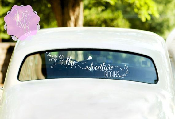 Check out this item in my Etsy shop https://www.etsy.com/uk/listing/458594922/and-so-the-adventure-begins-wedding-car