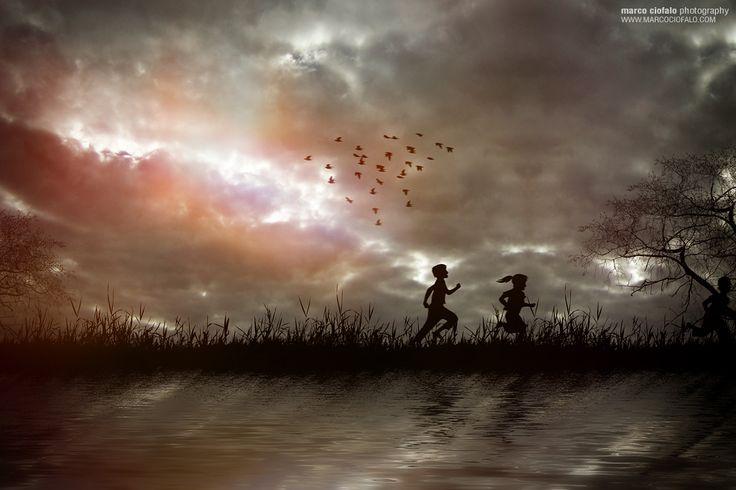 Children Running by Marco Ciofalo