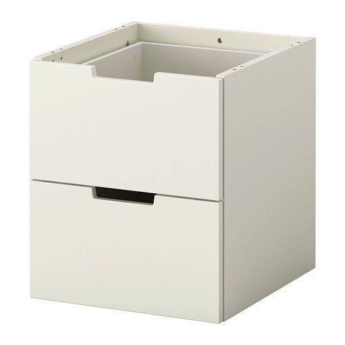 NORDLI Modulbyrå med 2 lådor, vit vit 40x45 cm