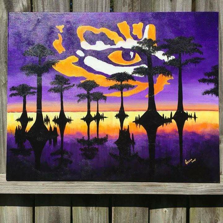 LSU Wall painting