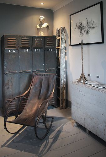 Meuble d'atelier, meuble industriel, brocante, déco vintage brocante, décoration industrielle