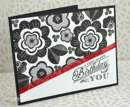 Happy Birthday To You Card by Nichole Heady for Papertrey Ink (May 2013)