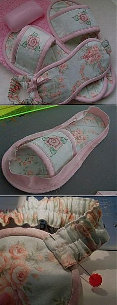 Как сшить красивые домашние тапочки и маску для сна