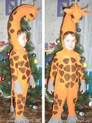 Костюм жирафа для новорожденных