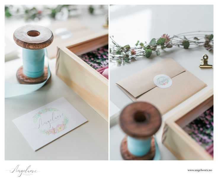 Logo and identity design for Angelworx Photography by Kateryna Savchenko