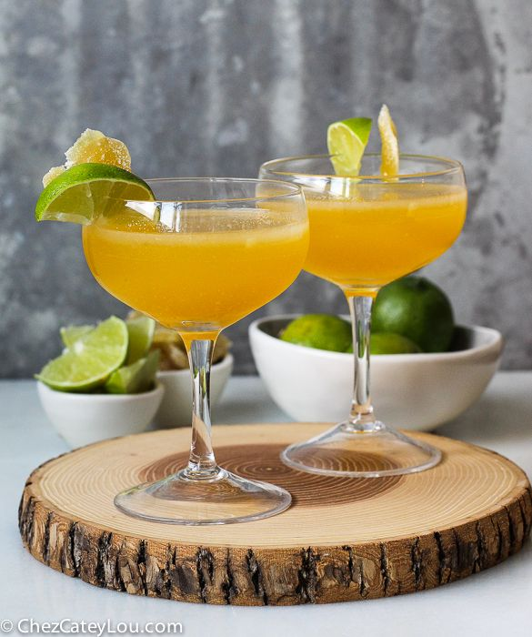 The flavors of passionfruit, lime and ginger are mixed together to create this Ginger Golden Margarita! It is easy and delicious, a perfect summer cocktail!