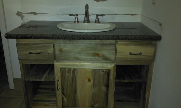 beetle kill pine bathroom vanity home improvement