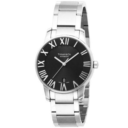 Tiffany Z1800.68.10A10A00A<br>ティファニー Atlas Domeメンズ腕時計<br>ブラック×シルバー