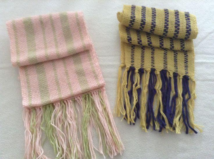 Bufandas en telar