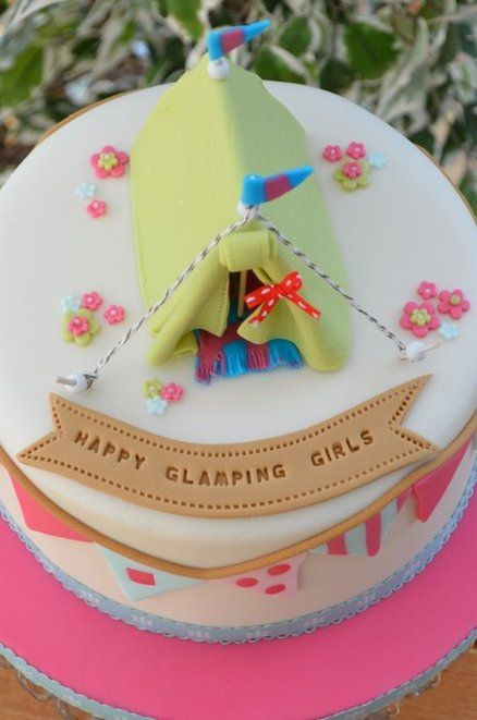 Happy Glamping! - by Hilary Rose Cupcakes @ CakesDecor.com - cake decorating website