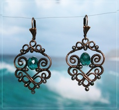 Adorable filigree wirework earrings #filigree