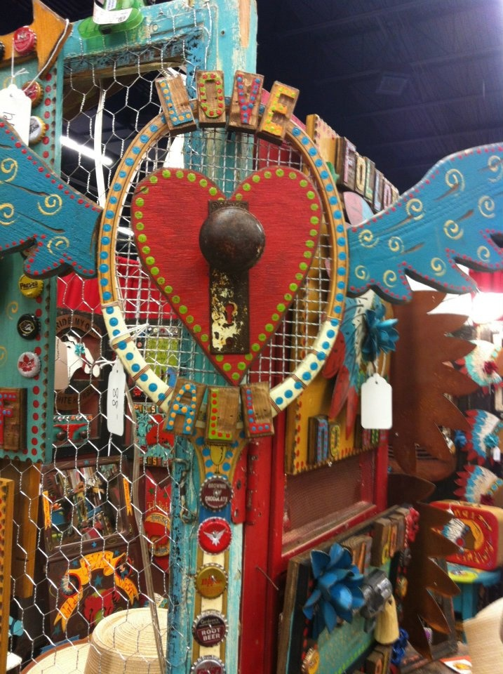 Folk Art From Recycled Junk