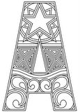 Download, print, color-in, colour-in Uppercase A