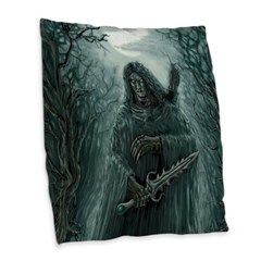Dark Thief Burlap Throw Pillow