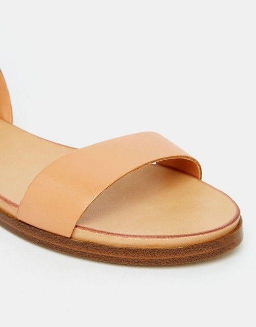ALDO | ALDO Erina Nude Simple Strap Flat Sandals