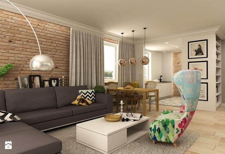 APARTAMENT NA GOCŁAWIU 120 m2 - Salon, styl eklektyczny - zdjęcie od design me too