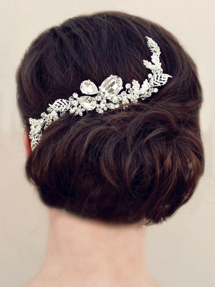 Glamorous Large Rhinestone Hair Combprom Prom Hair