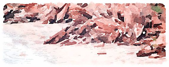 Red Cliffs of PEI  Watercolour by SpinnakerLaneDesigns on Etsy