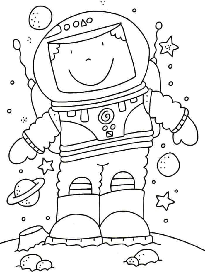 Astronaut In Space Coloring Pages Space Coloring Sheet Solar System Coloring Pages Space Printables