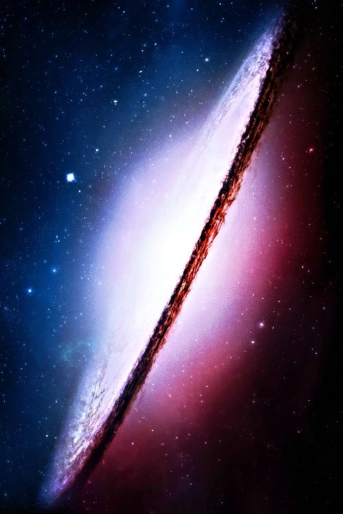 The Sombrero Galaxy is an unbarred spiral galaxy in the constellation Virgo located 28 million light-years from Earth.