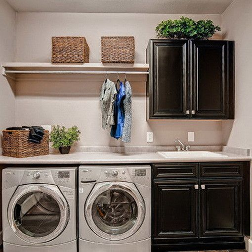 Add Additional Cabinets Above Washer And Dryer And This