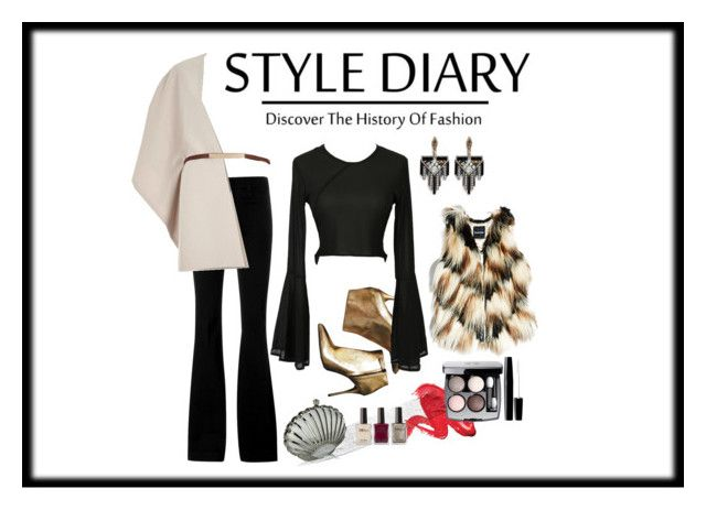 """Simple Black"" by stapleluc on Polyvore featuring STELLA McCARTNEY, Alexander McQueen, GUESS by Marciano, River Island, Lulu Frost, Chanel, blackandwhite, fashionWeek and vibe"