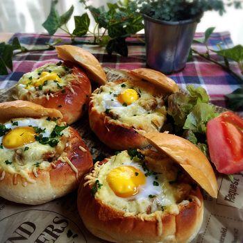 カレー2日目朝はバターロールパンで簡単!焼きカレーパン