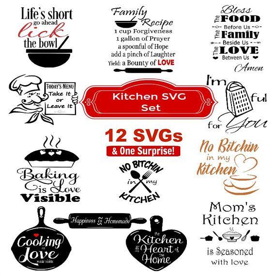 23+ Free kitchen svg bundle ideas