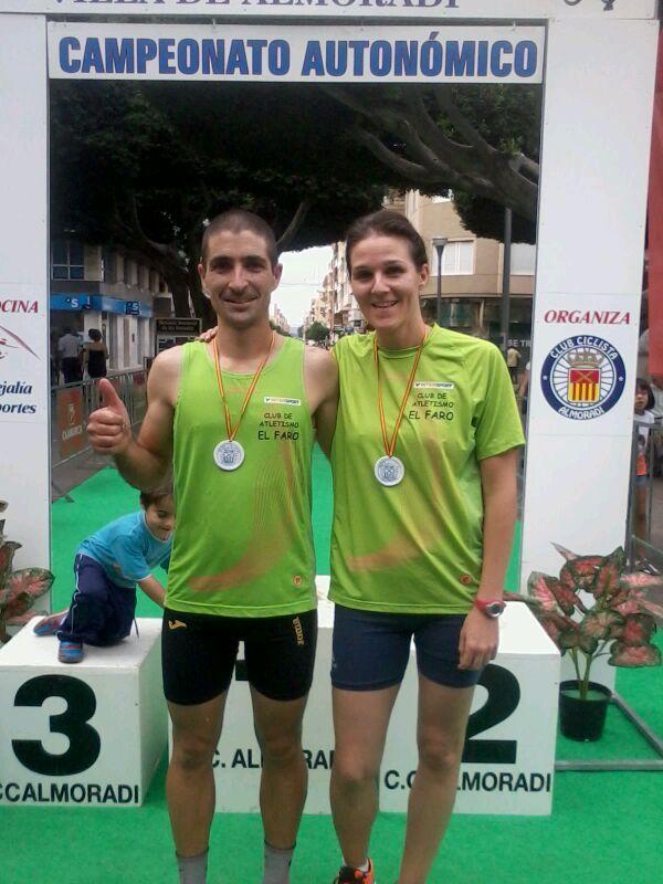 Gema Molero y Paco, 4º en parejas mixtas y 3º  Absoluto mixto, Campeonato Comunidad Valenciana Almoradi 06/10/2013