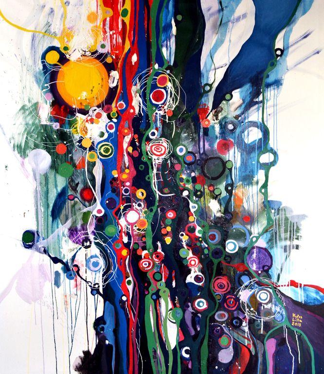 "Saatchi Online Artist: Lilla Kuizs; Oil, 2013, Painting ""Into the Wild"""