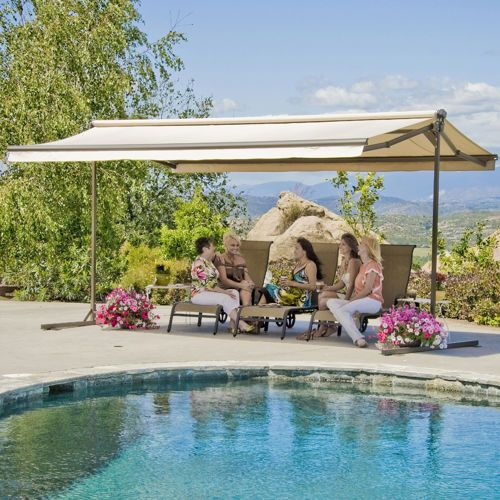 The SunSetter Oasis Freestanding Awning Motorized and ...