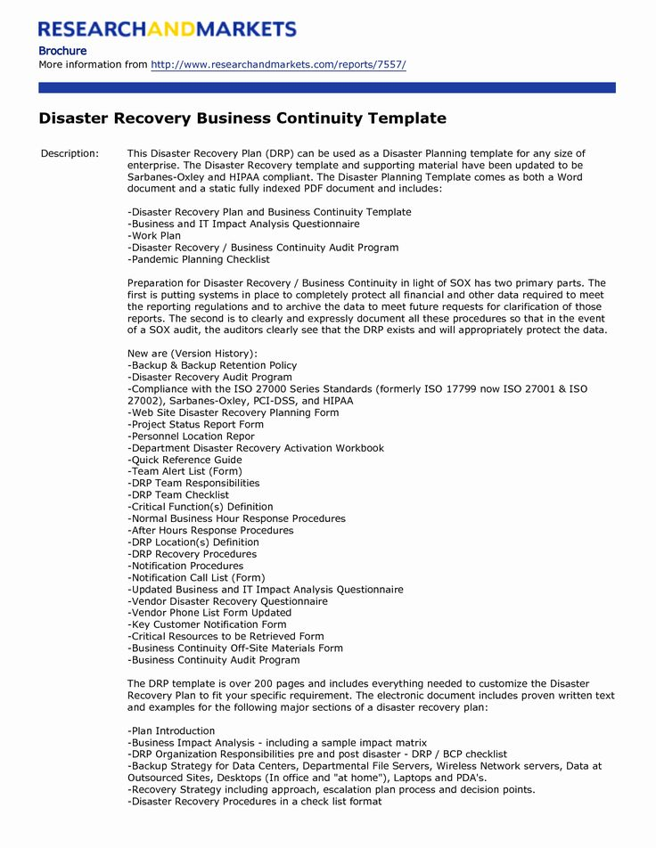 Business Continuity Plan Pdf Fresh Incredible Template