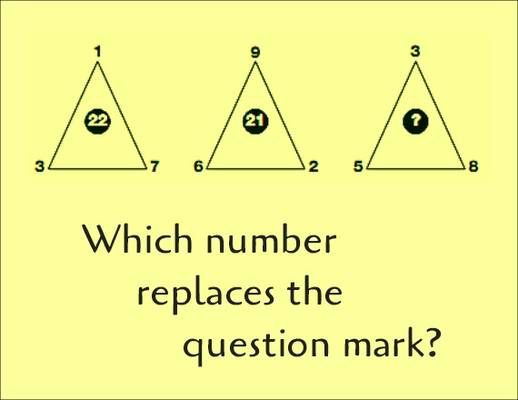 Math Puzzle   Which Number Replaces The Question Mark