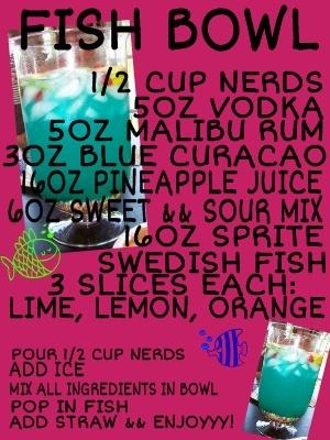 Fish Bowl...Mmmm alcohol && candy!
