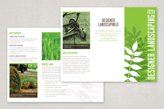 landscape brochure template - designer landscaping brochure template this clean and