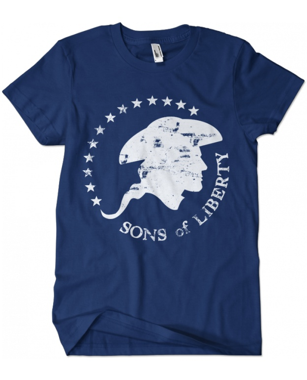 Evoke Apparel - Sons of Liberty Patriotic T-shirt, $25.00 (http://www.evokeapparelcompany.com/sons-of-liberty-patriotic-t-shirt/)