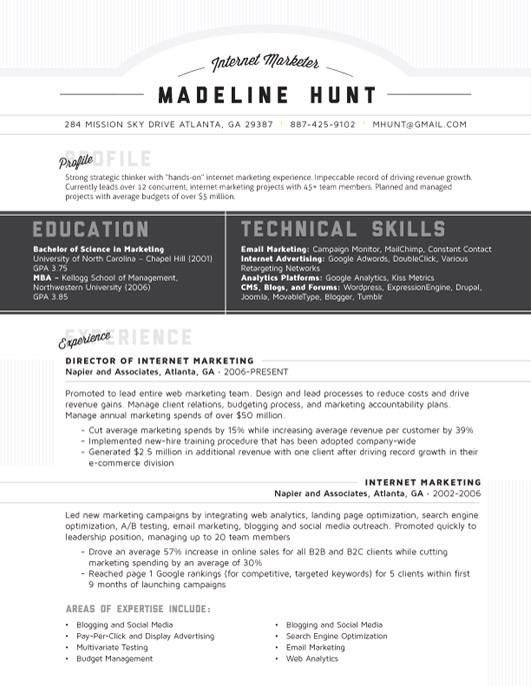 Resume Template Market Square Grey Loft Resumes