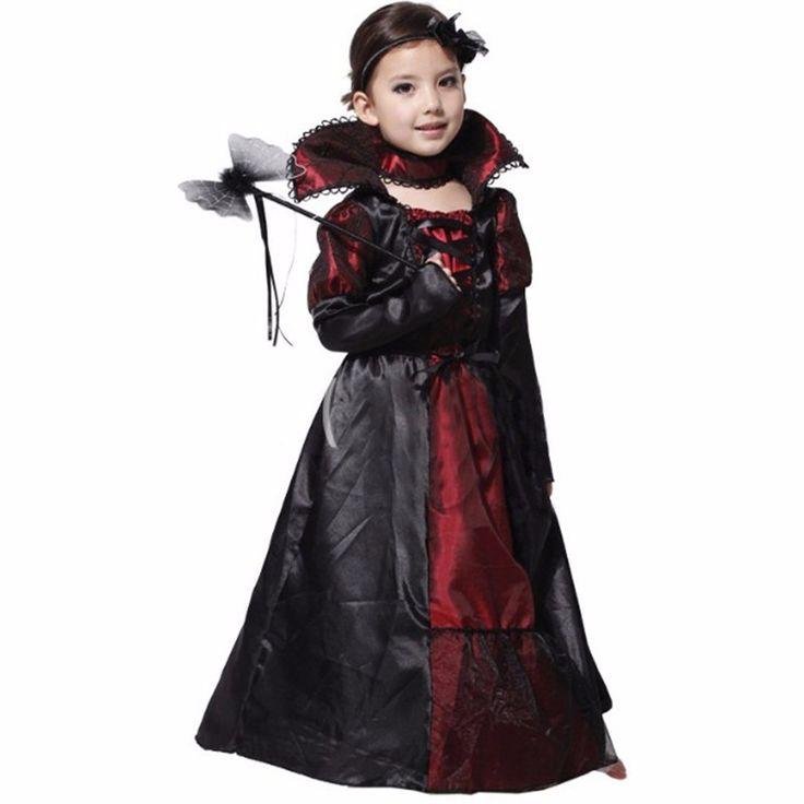 Children Girls Princess Vampire Costumes Purim Children's Day Halloween Costume for Kids Long Dress Carnival Party Cosplay