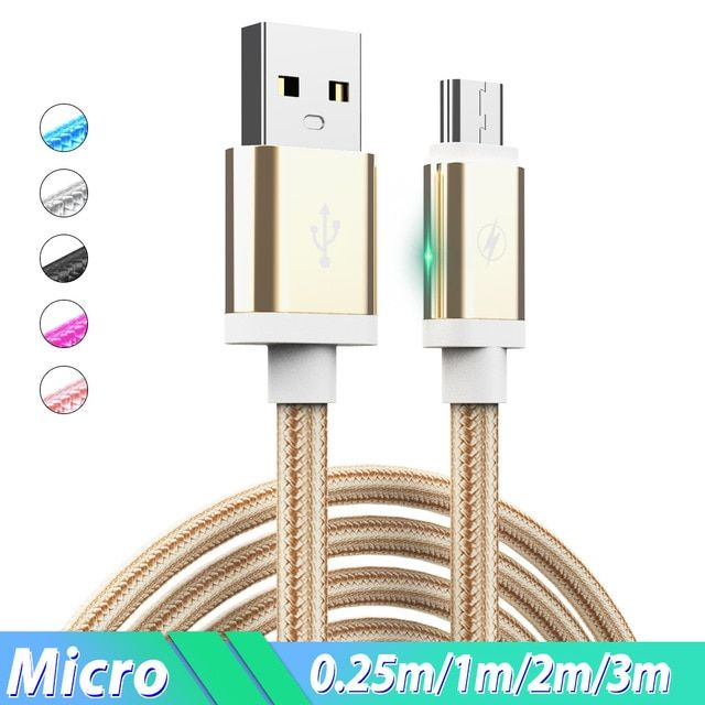 Micro Usb Cable 2 4a Phone Charge Wire 1 5m 2m 3m Cabo Micro Usb Charging Cable For Xiaomi Redmi Note 6 5 Pro 4x Huawei Sam Mobile Phone Phone Cables Lumia 640