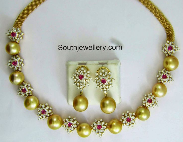 diamond south sea pearls necklace