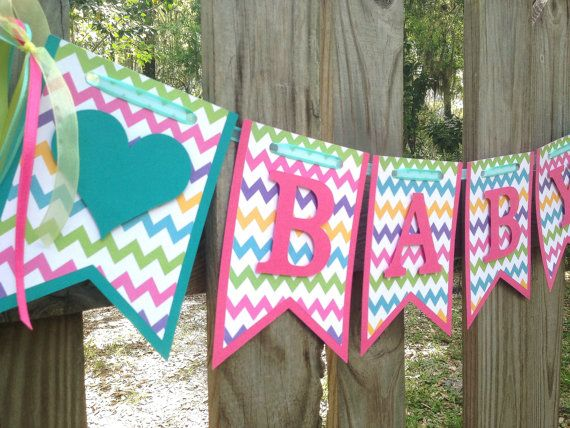 Chevron Baby Shower Banner - Baby Shower Ideas - Holidays and Events - Easter Themed Baby Shower
