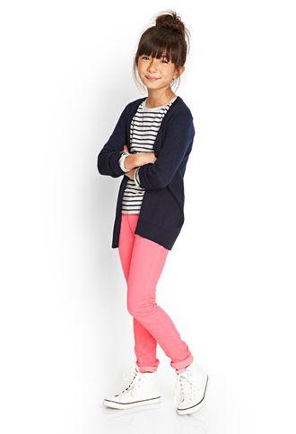 Striped Long Sleeve Top (Kids) | FOREVER21 girls - 2000058831